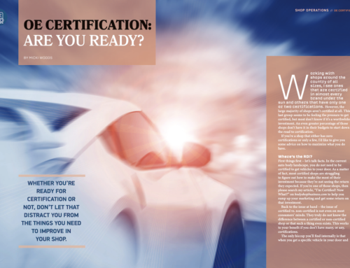 OE Certification – Is Your Shop Ready?
